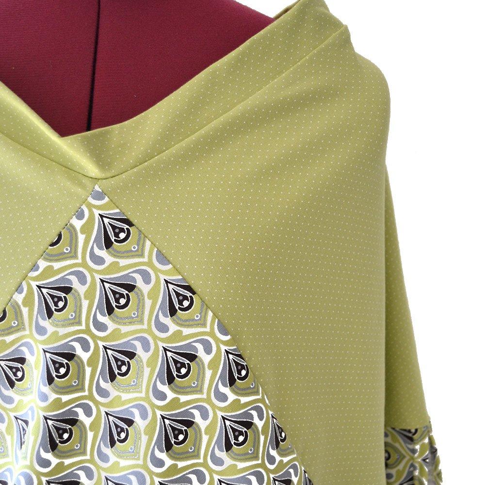 dfb660a23 Vestido japonés estampado amarillo y verde ❤ Moda Sostenible ...