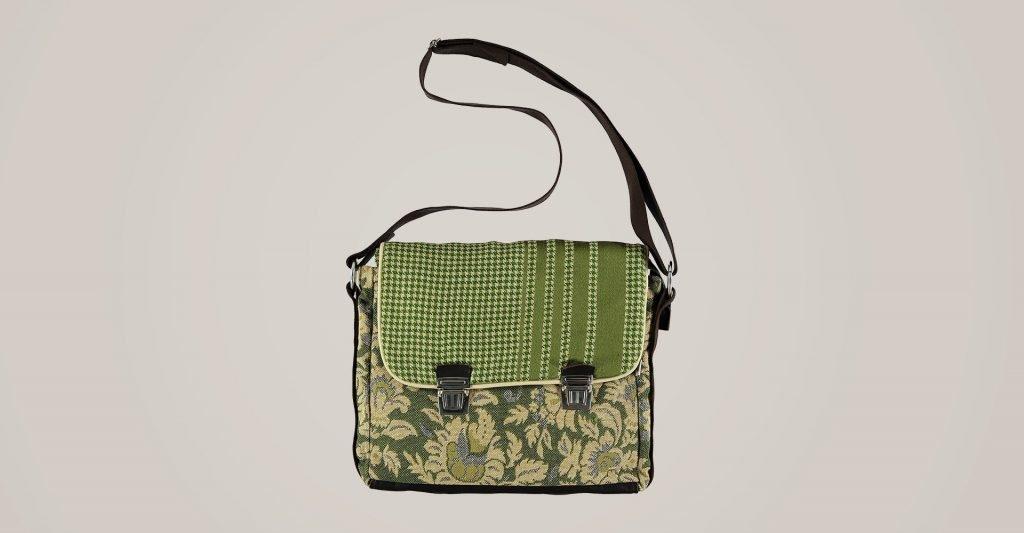 0638a8723 Bolso verde en tela de tapicería ❤ Sustainable Fashion ...