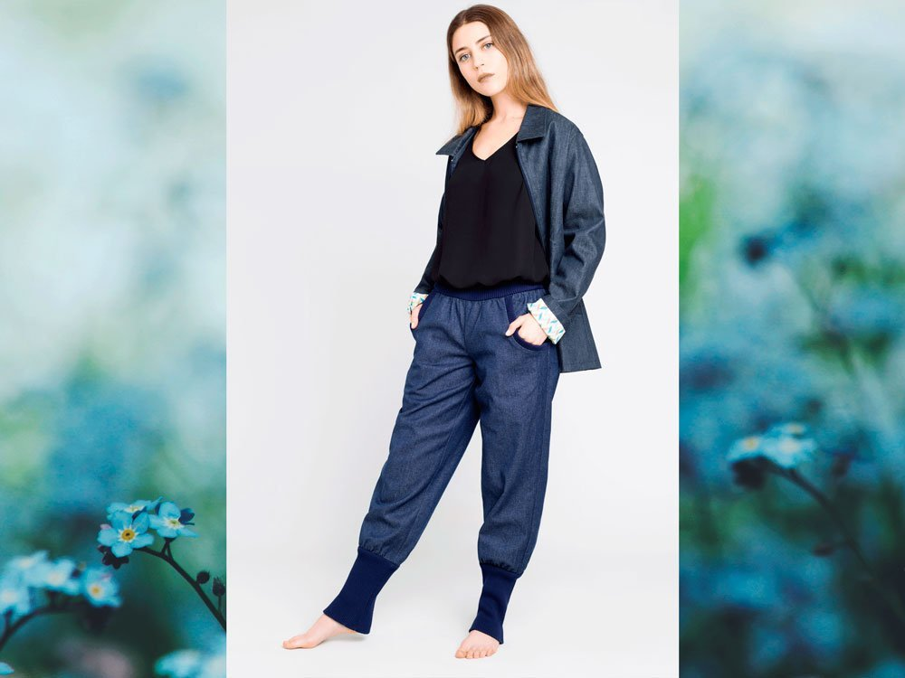 Blaue Jeanshose aus Bio-Baumwolle