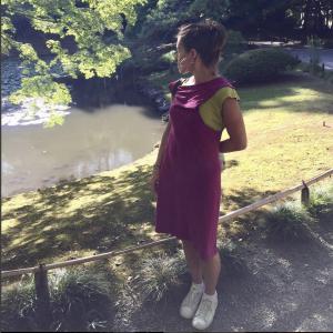 NO A LA FAST FASHION: La corredora de maratones Gemma Rica usando unos de nuestros vestidos de bambú